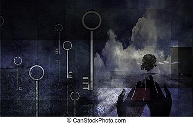 Abstract key