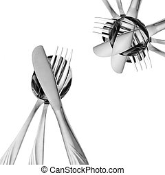 Abstract kitchen accessories - Abstract composition from...