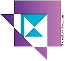 Abstract kite shaped logo