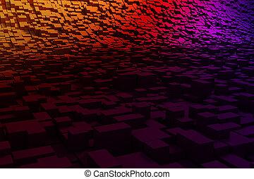 abstract, kleurrijke, achtergrond, 3d