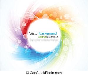 abstract, kleurrijke, achtergrond., illustratie, met,...