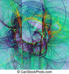 abstract, kleurrijke