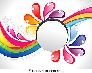abstract, kleurrijke, regenboog, vloeistof, grens