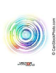 abstract, kleurrijke, technologie, achtergrond