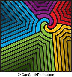 abstract, kleurrijke, vector., swirl.