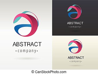 abstract, kleurrijke, vibrant, element, modieus, pictogram