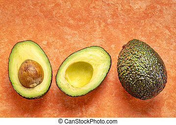 abstract, knippen, avocado, fruit
