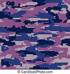 Abstract Knitting Seamless Texture. Military Decorative...
