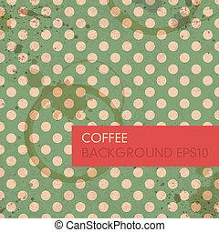 abstract, koffie, ringen, achtergrond., vector, eps10