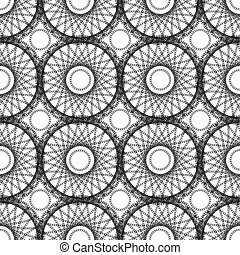 Abstract lace pattern, seamless vector background