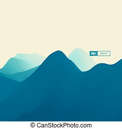 Abstract Landscape Background. 3d Vector Illustration.