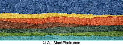 abstract landscape panorama - colorful textured paper set