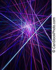 abstract laser cross rays on dark background