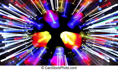 abstract laser party lights
