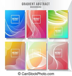 Abstract layout cover background collection