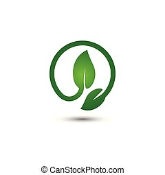 Abstract leaf logo icon template
