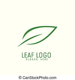 abstract leaf logo