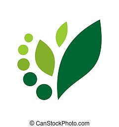 abstract leaf nature green concept vector logo icon
