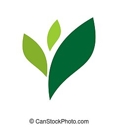 abstract leaf nature green logo icon