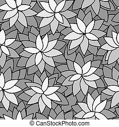 abstract leaf plant seamless monochrome background