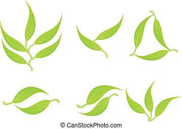 abstract leaf template