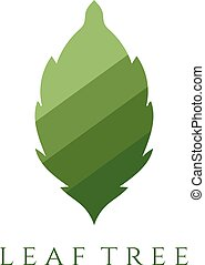 abstract leaf vector design template