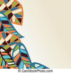 Abstract leaves background - Abstract colorful leaves...