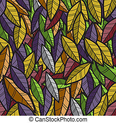 Abstract leaves Background Vector Illustration.