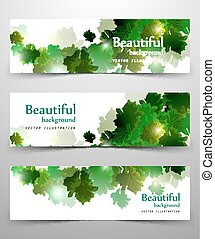 abstract leaves banner
