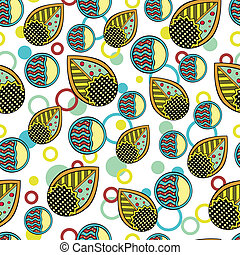 Abstract Leaves Endless Seamless Pattern