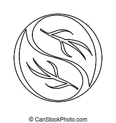abstract leaves nature icon