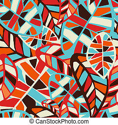 Abstract leaves pattern background