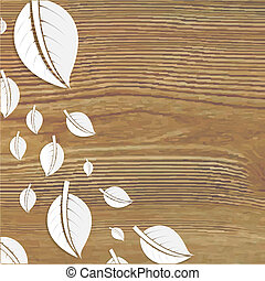 Abstract Leaves Wooden Poster