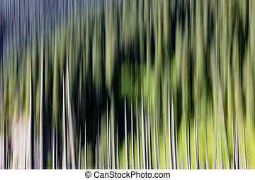 abstract, lege, achtergrond, bomen, vaag