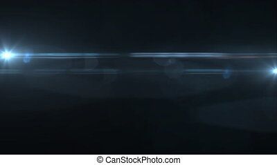 Abstract lens flare motion background horizontal moving...