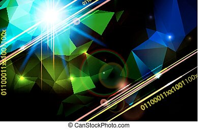 Abstract lens flare technology  background.