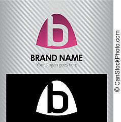 Abstract Letter b Icon logo