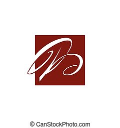 Abstract Letter B icon