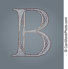 Abstract letter B.