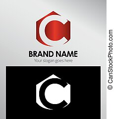Abstract Letter c Icon