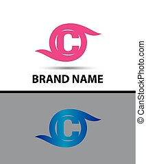 Abstract letter C logo icon design