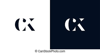 Abstract letter CK logo. This logo incorporate with abstract...