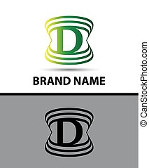 Abstract letter D logo design