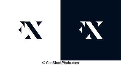 Abstract letter FX logo. This logo incorporate with abstract...
