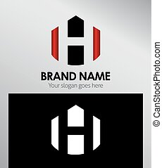 Abstract Letter h Icon