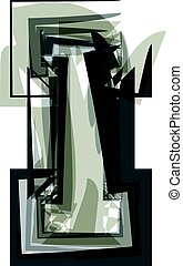 Abstract Letter I illustration