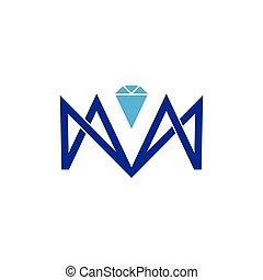 abstract letter m diamond arrows logo vector