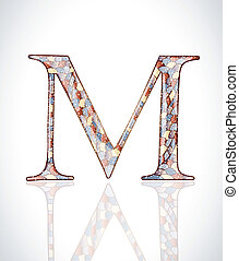 Abstract letter M.