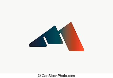Abstract letter M logo design template. Colorful hexagon creative sign. Universal vector icon.