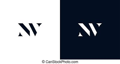 Abstract letter NV logo. This logo incorporate with abstract typeface in the creative way.It will be suitable for which company or brand name start those